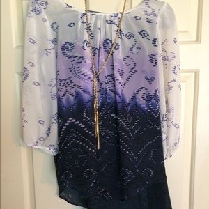 Sheer colorful blouse